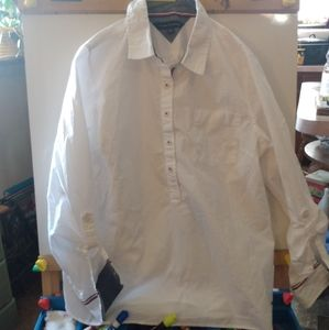 Tommy hilfiger white button down shirt XL women's